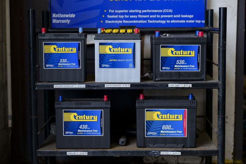 Forbury Service Centre in Dunedin stocks Century Batteries.